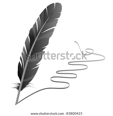 Feather. Raster version.