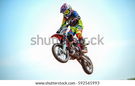 Febuary, 26,2017, Surin, Thialand, Moto CrossFuel Racing U0026 SUPER FAST