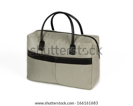 Female bag isolated on the white background