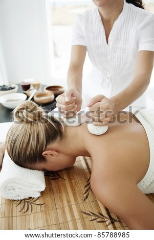 female ready for massage or other wellness treatment