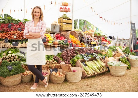 Older family relaxing outdoor summer event stock photo for Outdoor food market