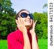 Female Sunglasses Portrait - stock photo