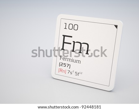 Fermium - element of the periodic table