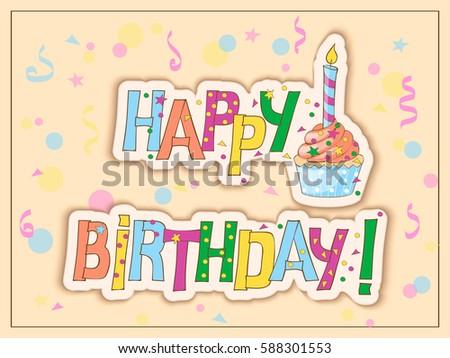 Happy Birthday Card Vector 144521720 Shutterstock – Portuguese Birthday Cards