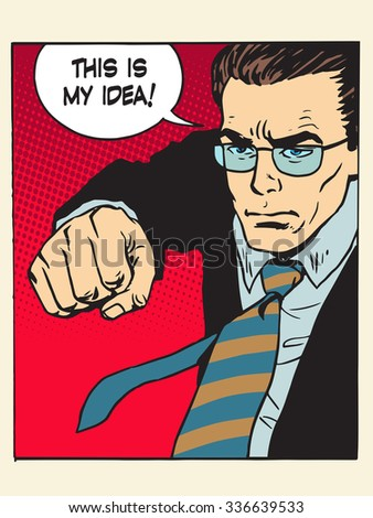 fight fist kick my idea creative process pop art retro style. Patent wars authorship copyright