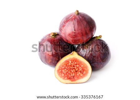 figs isolated on white background sliced fruits