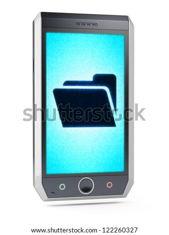File  This is my own design of smart phone, therefore you can use this picture for commercial purposes. Full collection of icons like that is in my portfolio