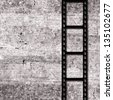 Film grunge background with film strip - stock