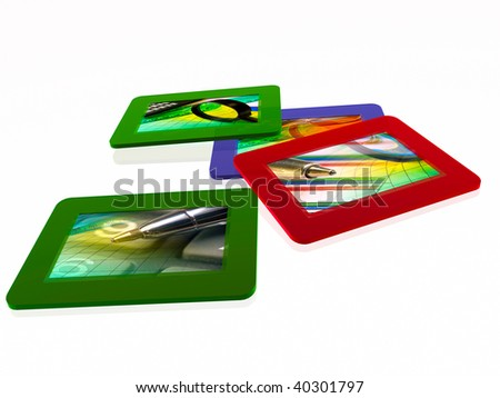 Film slides with pictures (business ).