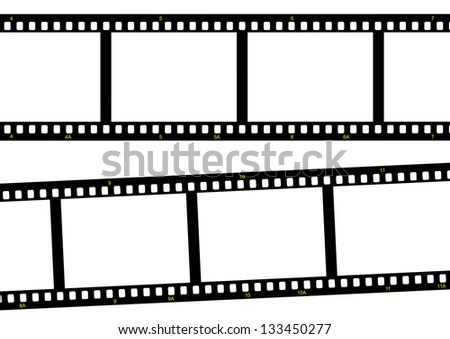 film strip ready to be filled with pictures. Photography concept