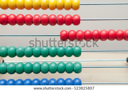 finance concept background of an abacus