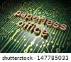 Finance concept: circuit board with word Paperless Office, 3d render - stock photo