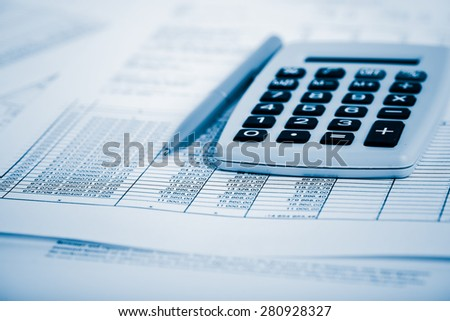 Financial accounting.  Blue toned