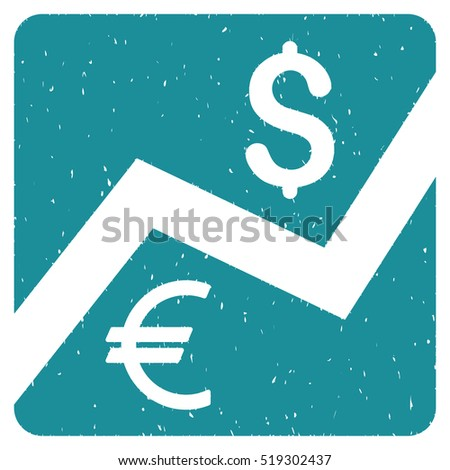 Financial Diagram grainy textured icon for overlay watermark stamps. Flat symbol with unclean texture. Dotted glyph soft blue ink rubber seal stamp with grunge design on a white background.