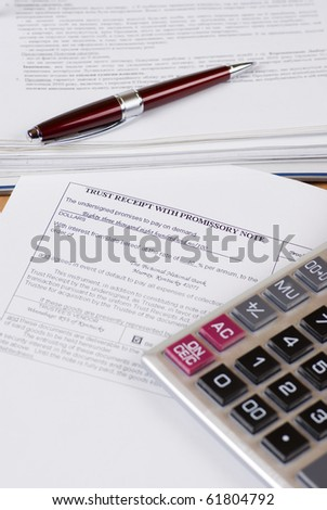 Financial documents on the desk