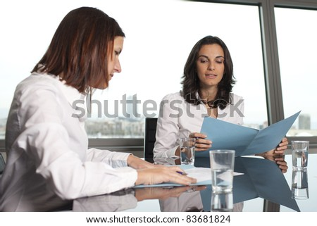 Financial Planning - woman gets consulted