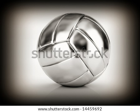 fine image of silver volley ball