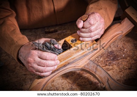 fine portrait of aged craftman detail