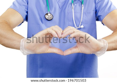 Finger doctor in the form of heart.