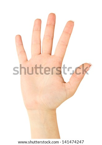 Finger Spelling the Alphabet in American Sign Language (ASL). Letter Sch