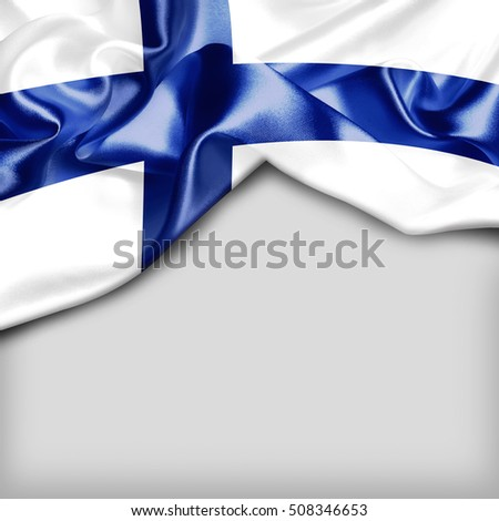Finland Country Flag on white background