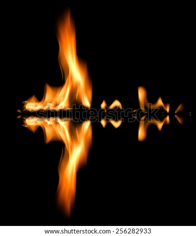 Fire abstract background