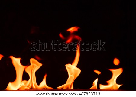 Fire flames texture background