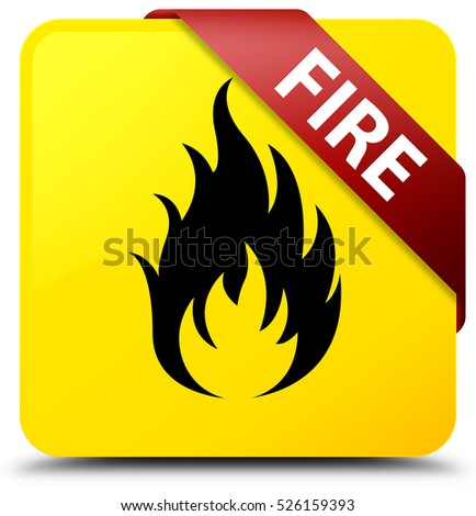 Fire yellow square button