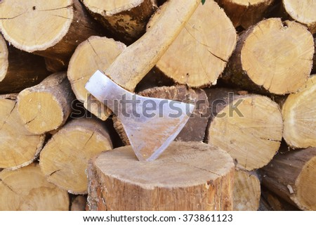 firewood and axe