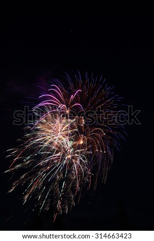 Fireworks Display for celebration of New Years Eve, Independence Day, and special events