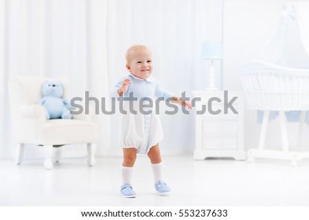 First Steps Baby Boy Learning Walk Stock Photo 525884032 Shutterstock