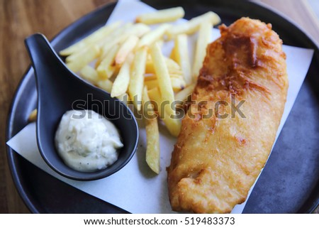 Fish and chips English food