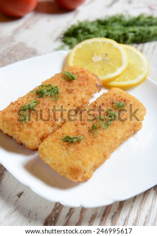 Fish fillets with chese