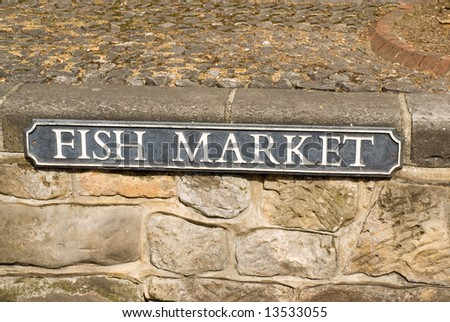 Fish Market sign