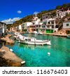 Fishermen village, Mallorca, Spain - stock photo
