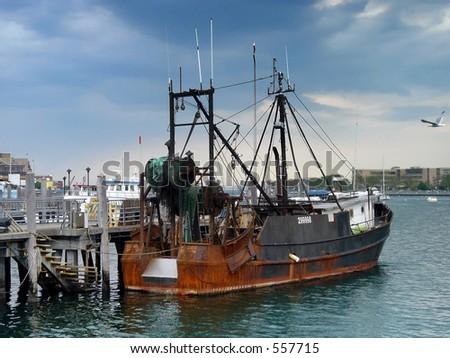 Replica mayflower plymouth massachusetts stock photo for Sheepshead bay fishing boats