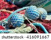 fishing nets in Genoa, italy - stock photo