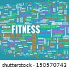 Fitness Concept for Weight Loss and Health - stock vector