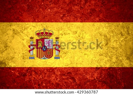 flag of Spain or Spanish banner on vintage background