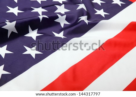 Flag of USA, close-up