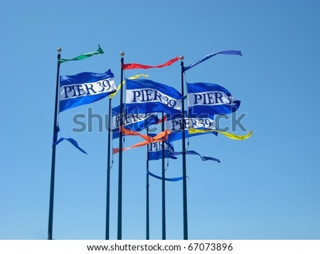 Flags for Pier 39, San Francisco