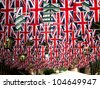 flags in Covent garden - stock photo