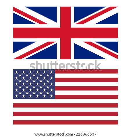 Flags of United Kingdom and United States