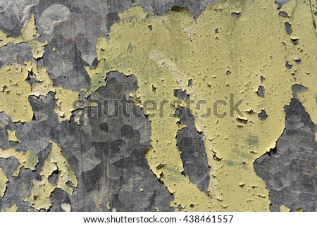 Flaking paint on galvanized metal