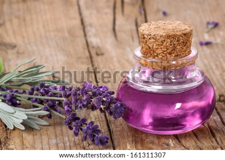 Flask with lavender oil