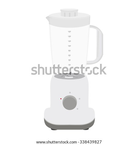 Flat illustration of fruit or vegetable blender . Appliance used in kitchens to mix and blend. Blender raster icon