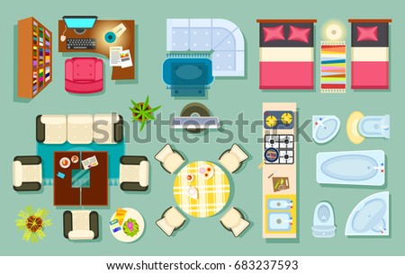 Set Game Elements Icons Nature Theme Stock Vector 233959015 Shutterstock