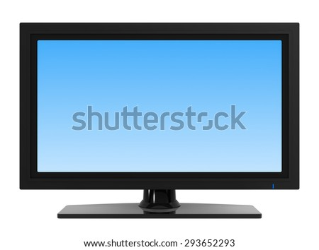 Flat screen television , blank screen.