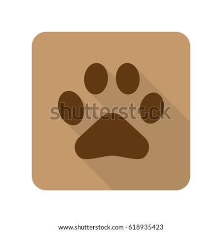 Grunge Animal Footprint Vector Illustration Stock Vector