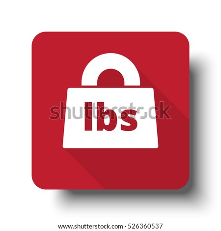 Flat Black Weight Pounds Icon On Stock Illustration 362446448